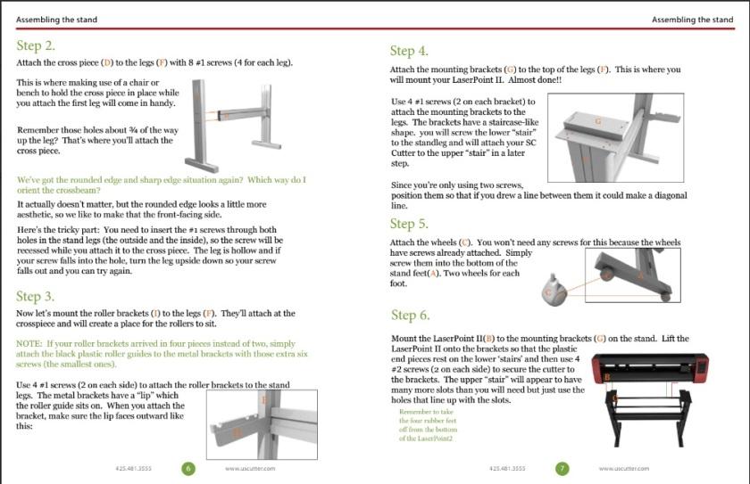 Instruction manual for vinyl cutter.