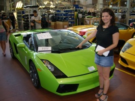 Touring the Lamborghini factory in Italy