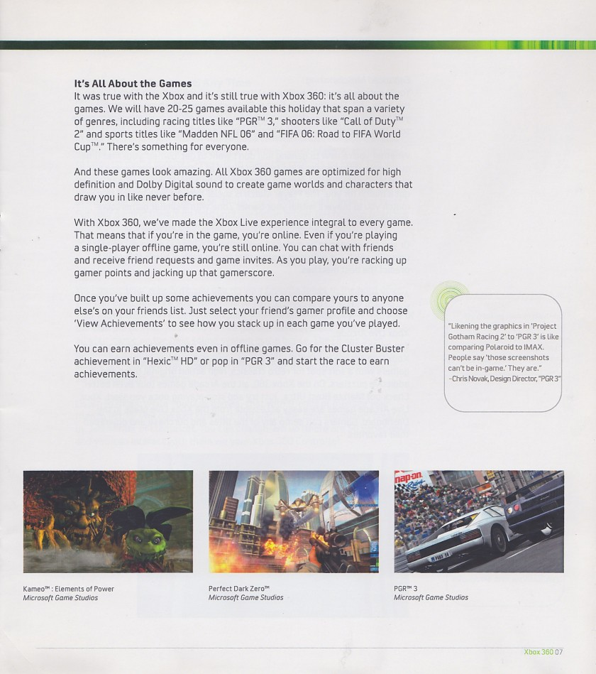 Sample - Xbox 360 Reviewers Guide